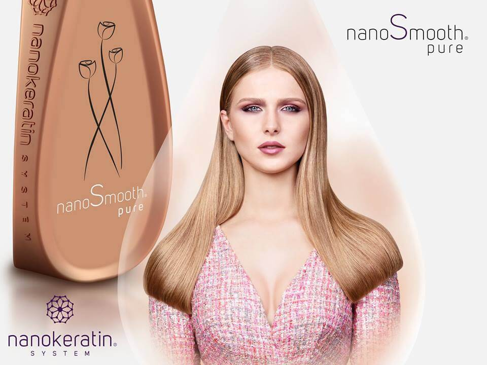Nanokeratin smoothing and straightening